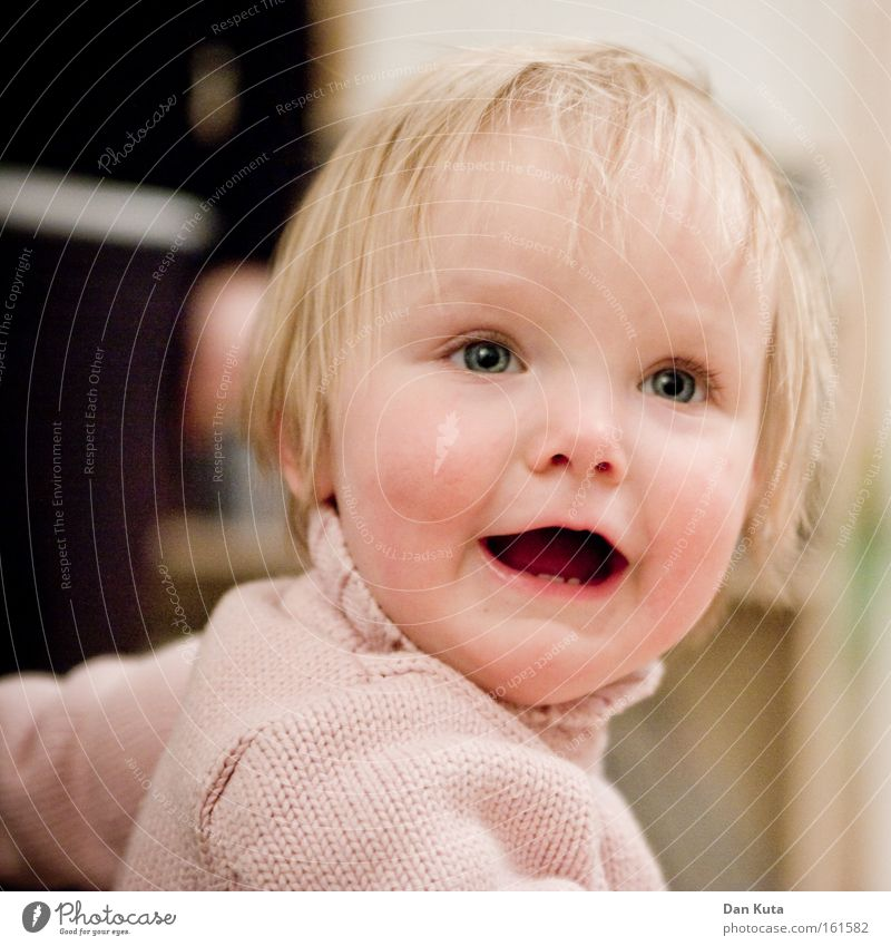 Child Girl Joy Emotions Laughter Contentment Blonde Sweet Portrait photograph Cute Toddler Alluring