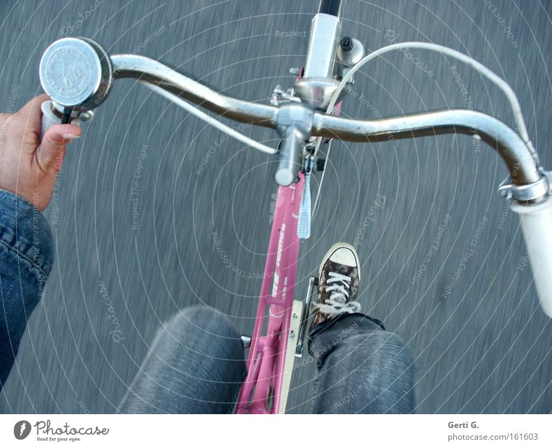 Hand Vacation & Travel Legs Healthy Bicycle Pink Leisure and hobbies Driving Jeans Footwear Chucks Sneakers Bicycle bell