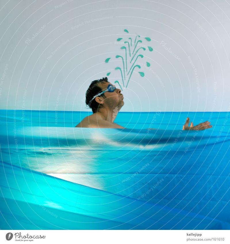 Human being Man Water Ocean Sports Naked Fish Swimming Dive Comic Inject Joke Aquatics Lifeguard Food