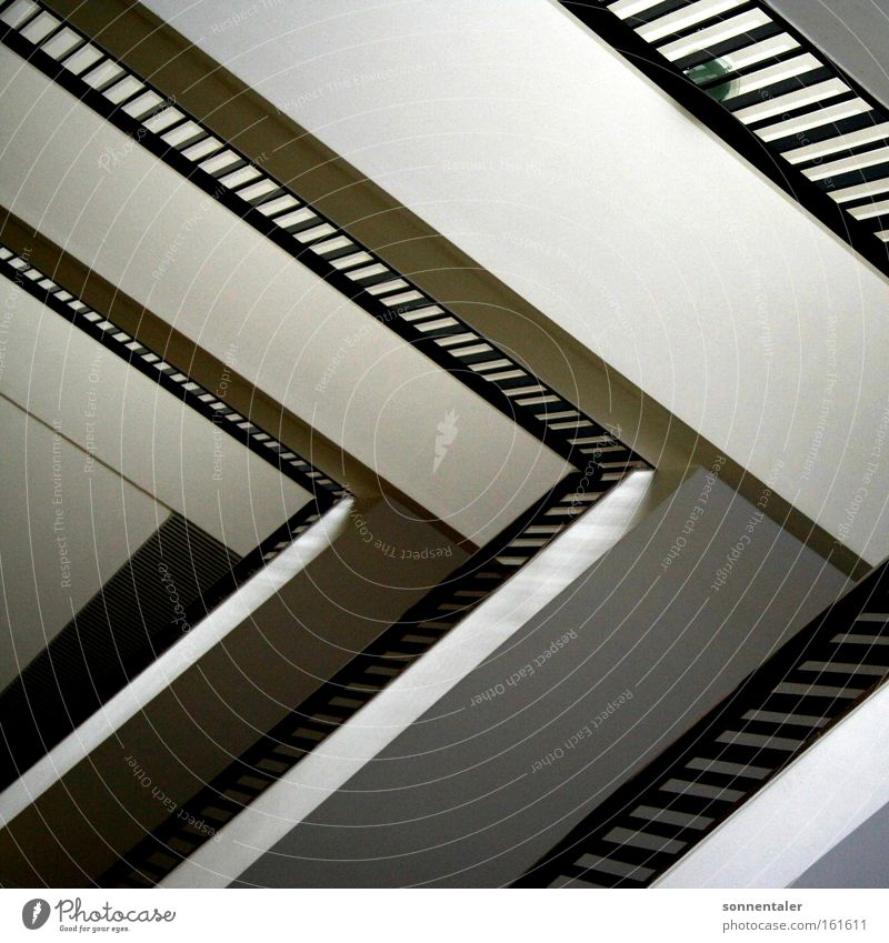 Line Stairs Arrangement Handrail Banister Go up Staircase (Hallway) Hold Corridor Descent Triangle