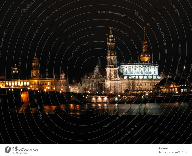 Dresden Old Town Night Long exposure Historic Canaletto View