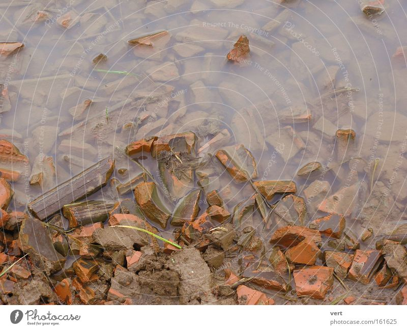 clay_water_shards Water Puddle Earth Field Brick Shard Broken Brown Autumn November Mud Deserted Rain Background picture Calm Gloomy Stone Minerals
