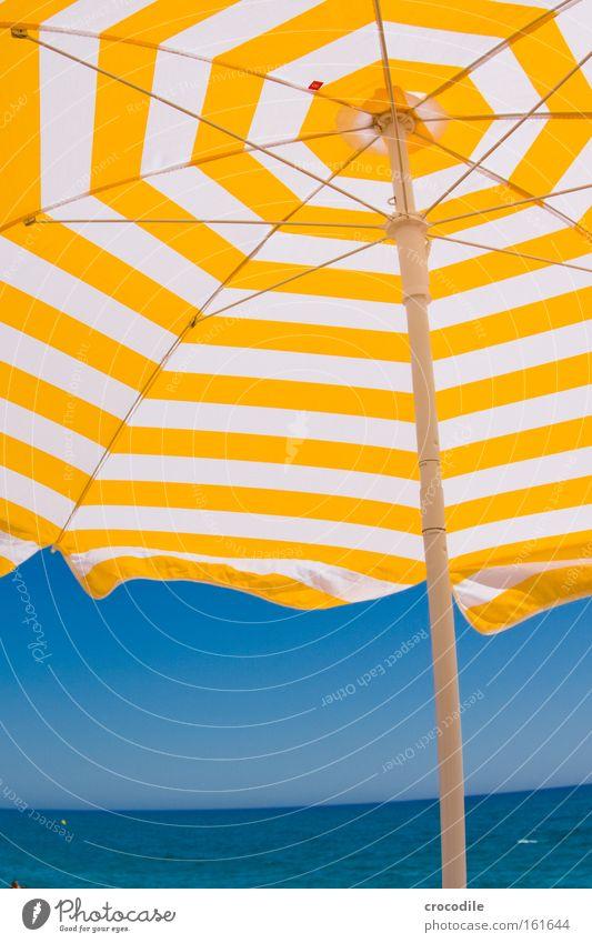 Sky Ocean Summer Joy Beach Vacation & Travel Yellow Relaxation Horizon Leisure and hobbies Spain Sunbathing Beautiful weather Cloudless sky