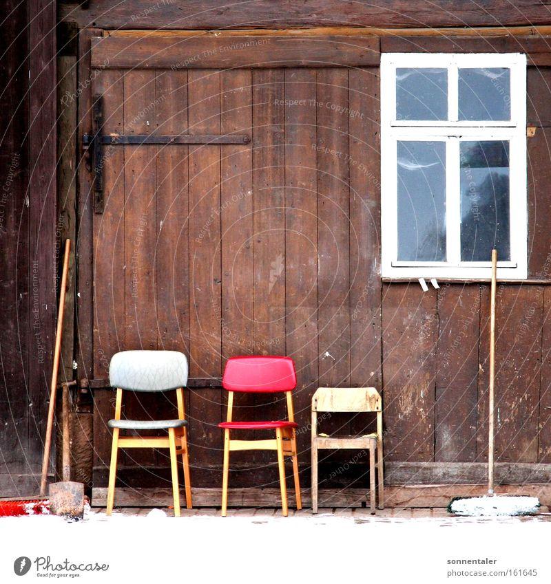 Calm Window Wood Places Break Chair Things Gate Seating Barn Household Courtyard Broom