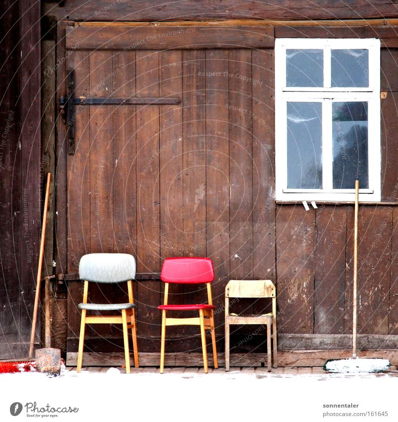 chair yard Window Courtyard Chair Broom Barn Gate Wood Seating Calm Break Places Things Household