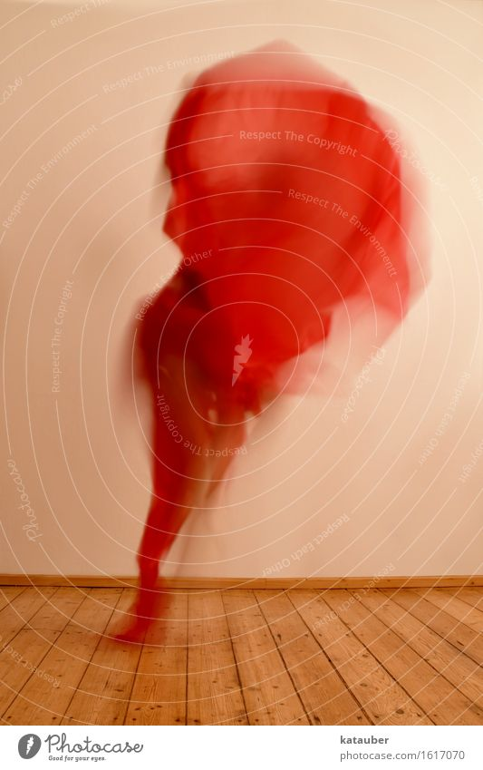 human flame Feminine 1 Human being Movement Flying Romp Esthetic Hip & trendy Uniqueness Wild Red Rag Dance Hop Flame Fire Warmth Joy Crazy Colour photo