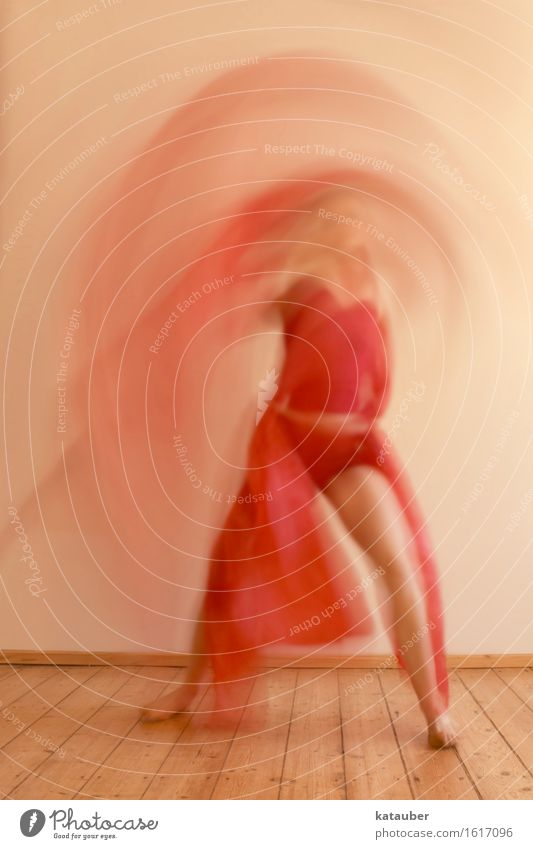 Lady in Red Feminine Body 1 Human being Movement Playing Dream Esthetic Positive Rebellious Crazy Joy Euphoria Passion Warm-heartedness Culture Art Power