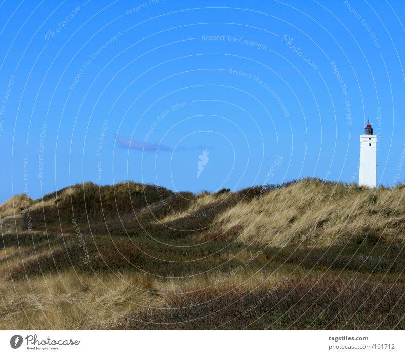 Sky Plant Summer Beach Vacation & Travel Relaxation Grass Europe Leisure and hobbies Monument Beach dune Dune Landmark Lighthouse Denmark Blavands Huk