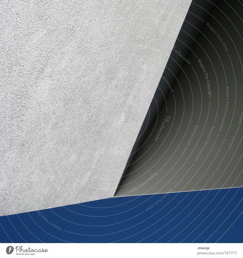 Blue Gray Building Line Architecture Concrete Modern Illustration Geometry Cloudless sky
