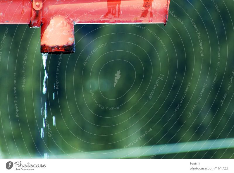 Water Green Red Winter Spring Background picture Weather Drops of water Drainage Gutter Melt Rain gutter Melt water