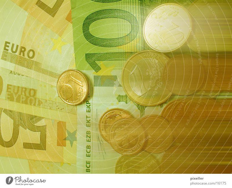 Green Money Euro Bank note Coin