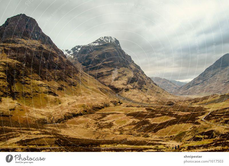 Glen Coe (Gaelic Gleann Comhann) Vacation & Travel Tourism Adventure Mountain Hiking Environment Nature Landscape Clouds Spring Weather Bad weather Rain Snow