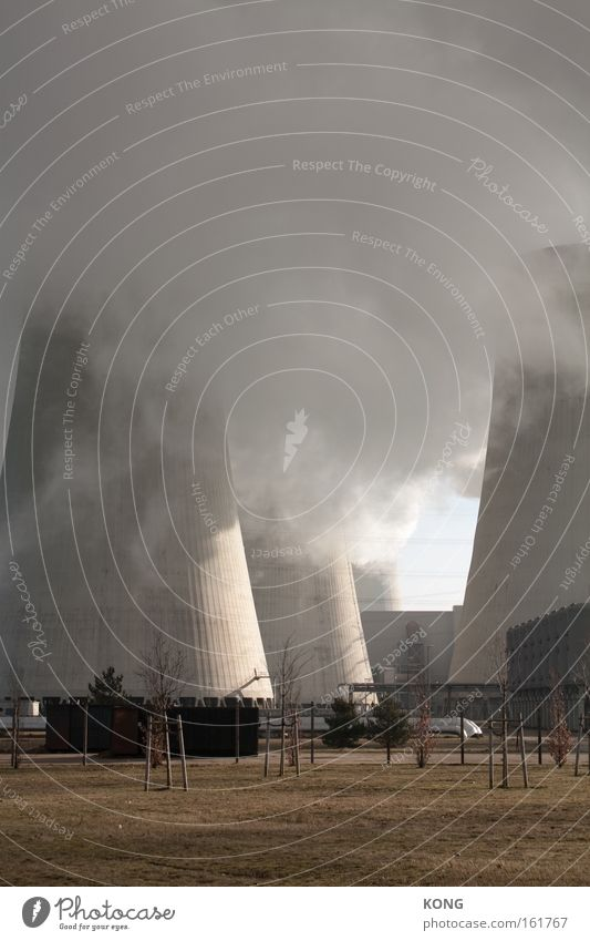 touching the cloud Industry Climate Clouds Fog Haze Exhaust gas Concrete Energy industry Electricity generating station Thermal power station Gray Dirty Sky
