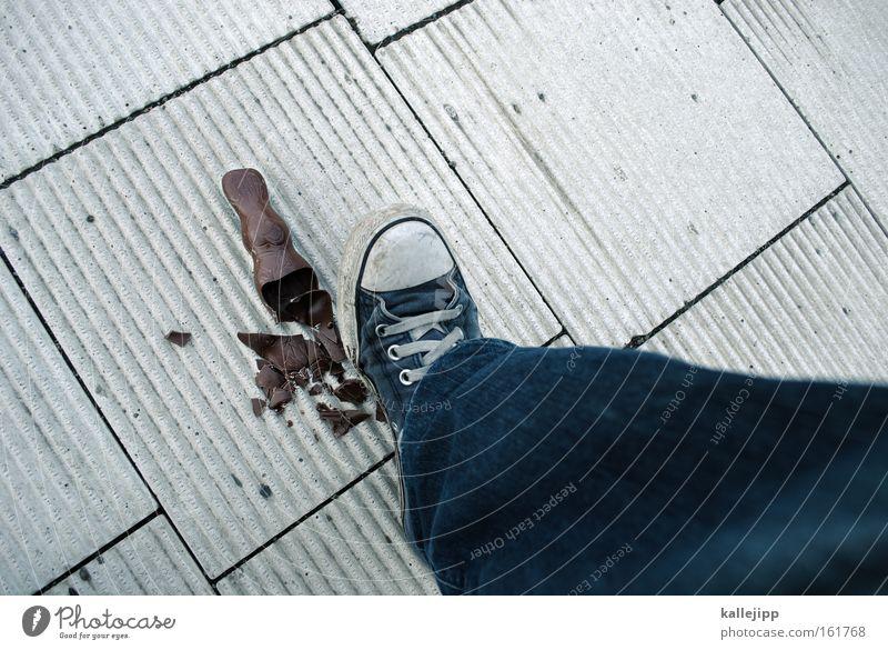 Legs Feet Nutrition Broken Easter Chocolate Destruction Sneakers Public Holiday Consumption Tread