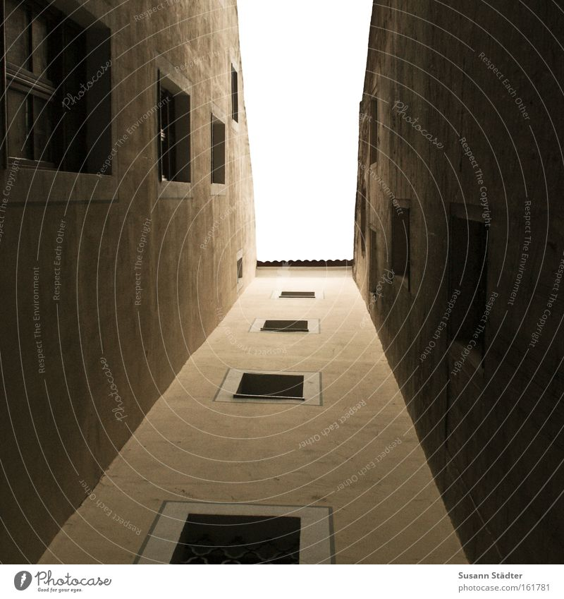 Sky City House (Residential Structure) Clouds Street Above Window Architecture Road traffic Facade Vantage point Roof Ruin Geometry Backyard