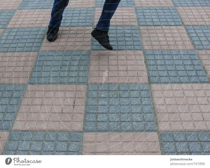 350 - There the bear is stepping Dance Dance event Jump Legs Hop Chessboard Checkered Walking Joy Cobblestones Paving stone High spirits Life Juttas snail