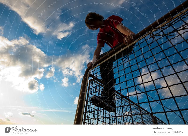 Youth (Young adults) Freedom Climbing Fence Escape Penitentiary Grating Cage