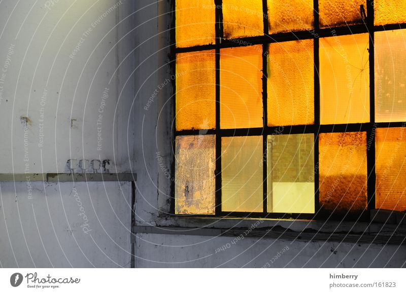 Old City Yellow Wall (building) Window Wall (barrier) Building Art Dirty Architecture Glass Industry Retro Industrial Photography Factory