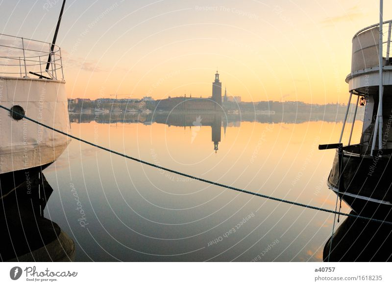 Stockholm City Hall Vacation & Travel Tourism Sightseeing City trip Cruise Summer Summer vacation Island Landscape Water Lake River Small Town Capital city