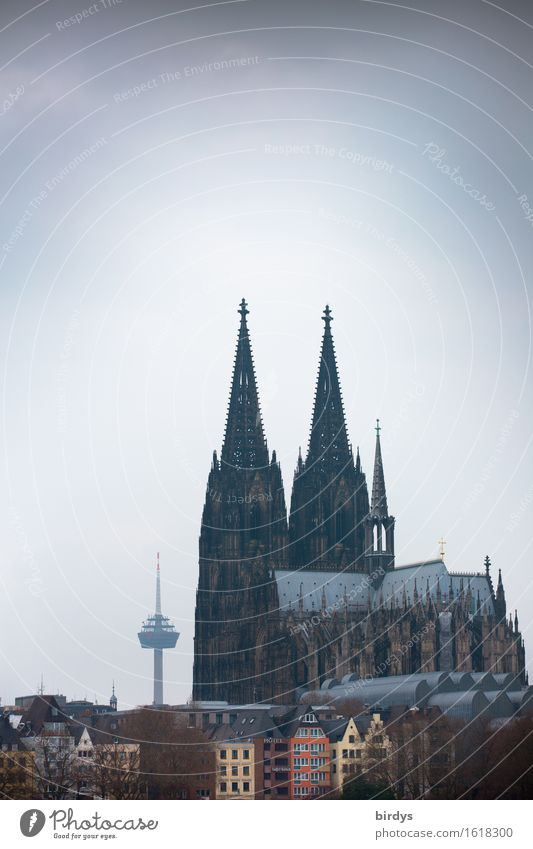 Beau de Cologne Vacation & Travel Tourism City trip Cologne Cathedral Downtown Old town Dome Tower Television tower Tourist Attraction Landmark Esthetic