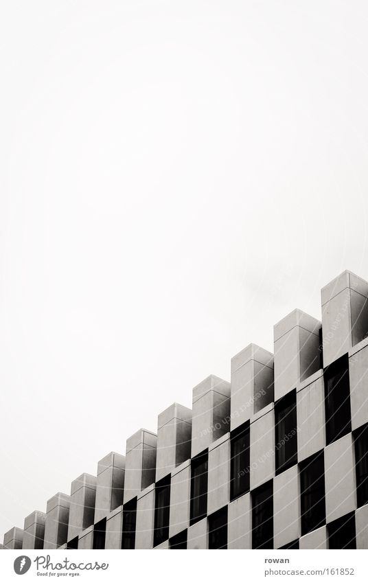 checkered hotel Architecture Building Dublin Modern Pattern Fog Docklands Structures and shapes Geometry Black & white photo Design Detail Contemporary