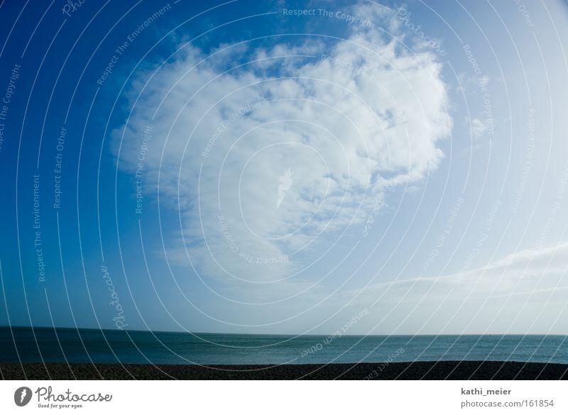 Sky Blue Ocean Joy Beach Clouds Far-off places Coast Together Waves Fear Heart Wait Trip Infinity Longing