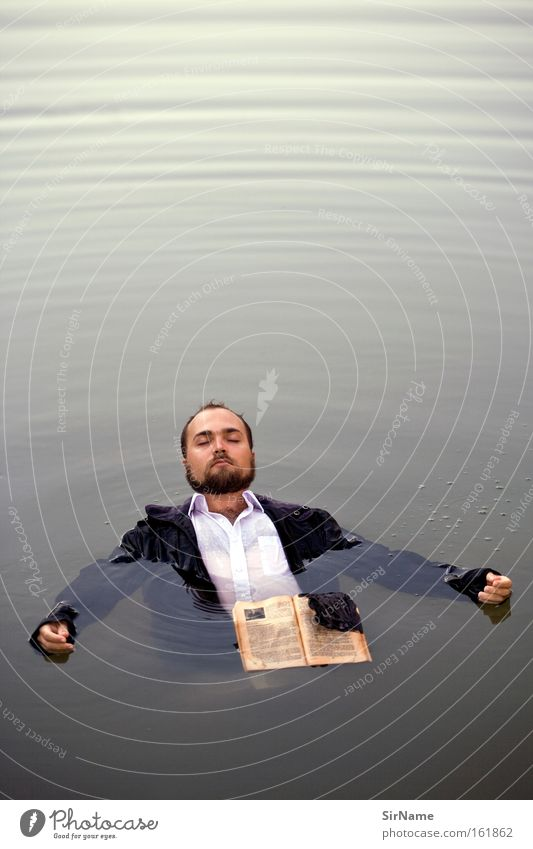Man Water Adults Swimming & Bathing Free Book Float in the water Trust Hover Media Weightlessness Debauched