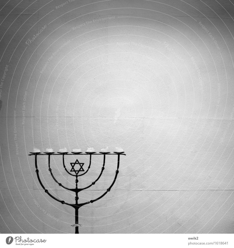 Calm Religion and faith Metal Stand Sign Candle Firm Patient Wisdom Purity Unwavering Collector's item Candle holder Star of David Menorah-im