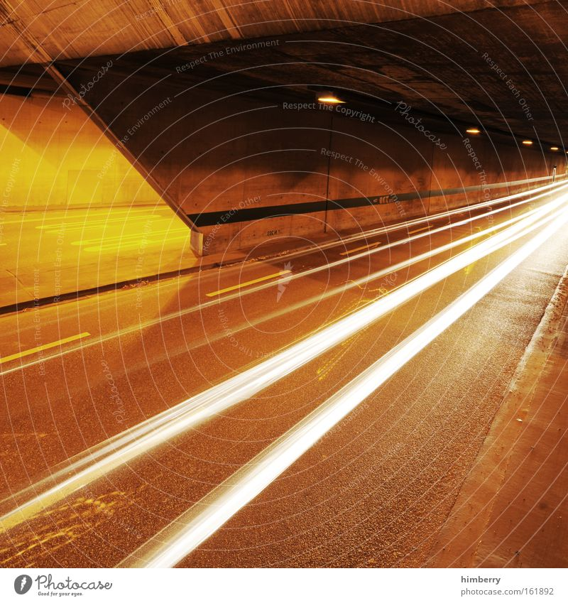 Yellow Street Movement Road traffic Design Transport Speed Energy industry Future Logistics Threat Highway Tunnel Racing sports Mobility Traffic infrastructure