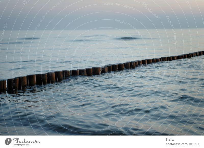 Water Ocean Blue Calm Think Waves Island Peace Break water Hiddensee