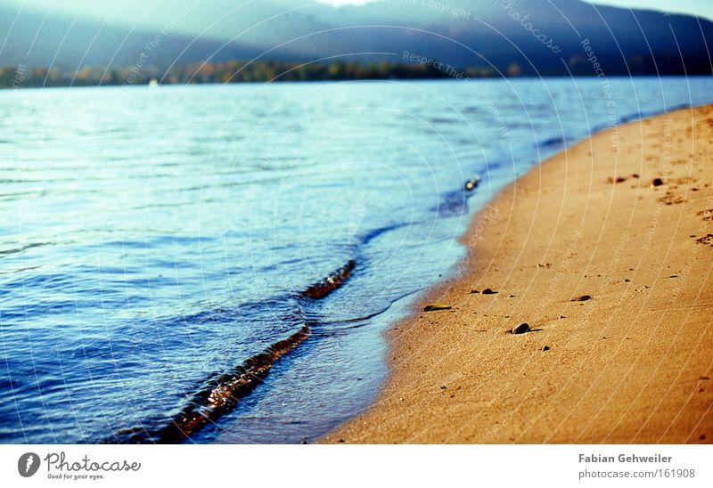 Water Blue Beach Lake Sand Waves Coast Tracks Lakeside Bavaria Afternoon Tegernsee