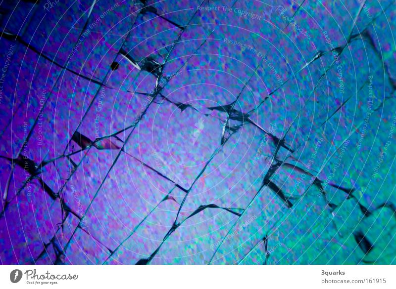 Blue Jump Glass Broken Destruction Fragile Shard Photomicrograph