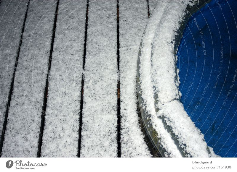 Water White Blue Joy Winter Cold Snow Playing Wood Ice Frost Plastic Plank Paddling pool Harden