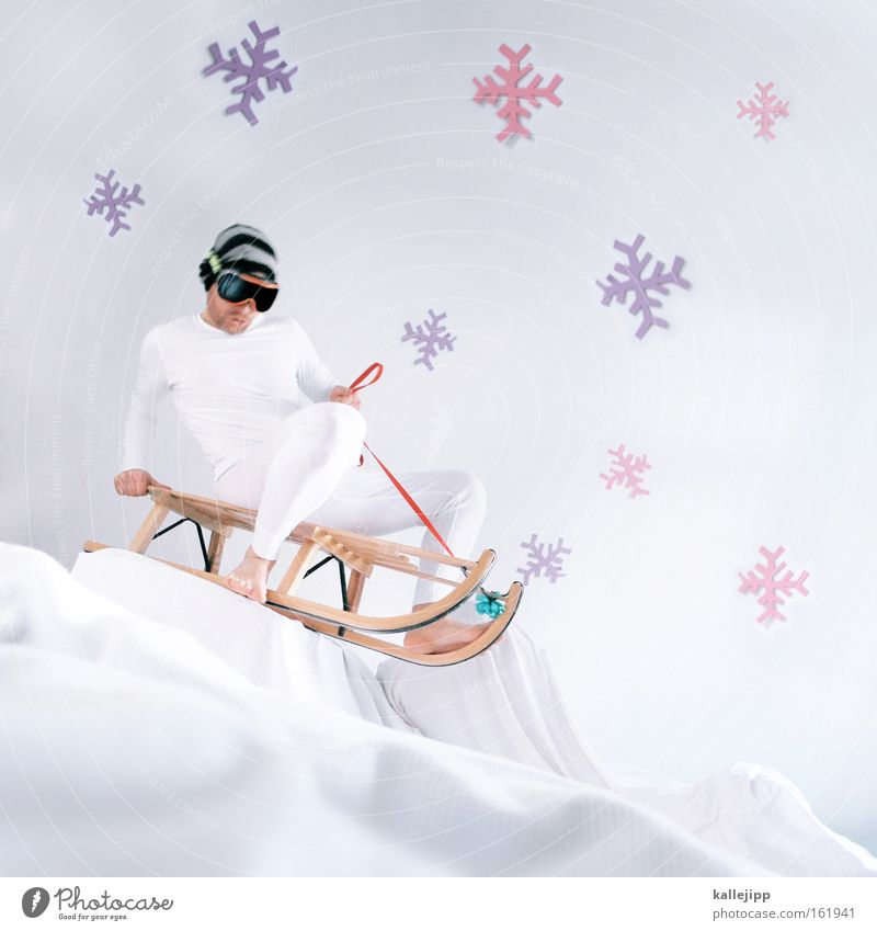 Christmas & Advent White Winter Joy Snow Mountain Ice Stage play Winter sports Heap Snowflake Ice crystal Set Sleigh Downward slide