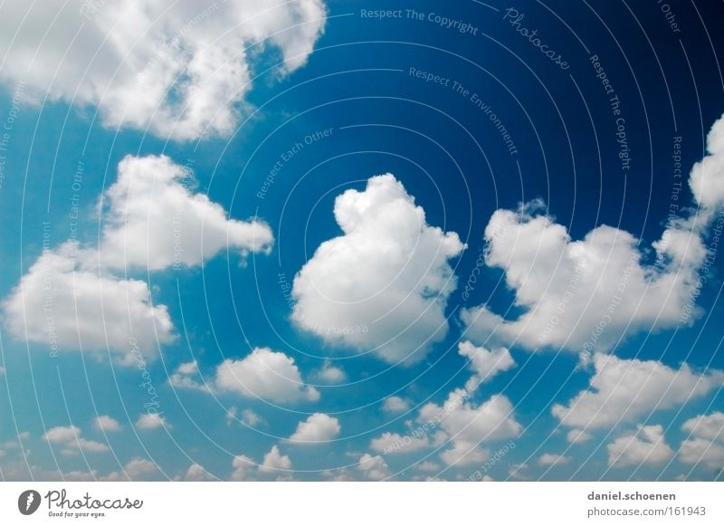 Sky Blue White Beautiful Summer Clouds Air Weather