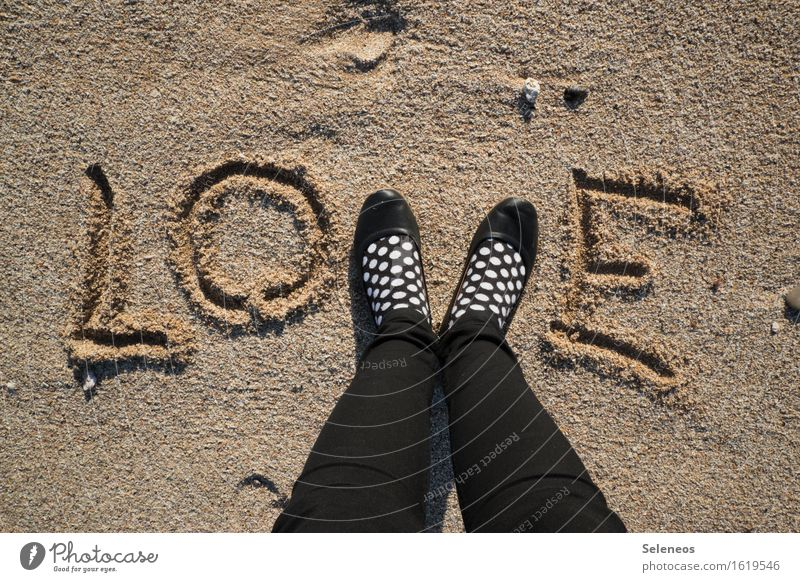 lots of Human being Feet 1 Coast Ocean Beach Sand Stockings Footwear Love Emotions Moody Happy Happiness Joie de vivre (Vitality) Spring fever Infatuation