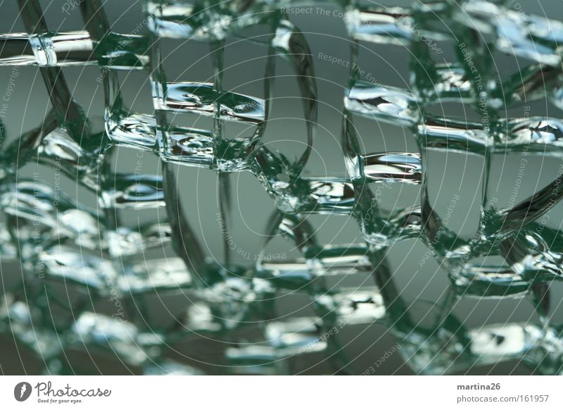 cellular composite Colour photo Subdued colour Close-up Macro (Extreme close-up) Abstract Structures and shapes Reflection Window Glass Broken Gray Green Cold