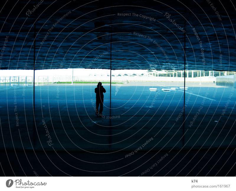 Human being Man Blue Window Architecture Barcelona Cervasse Shaft Forum