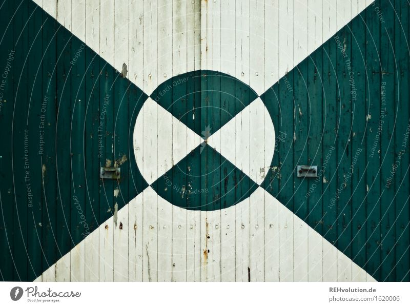 gate Village Door Art Graphic Circle Line Green White Wood Gate Barn Courtyard Background picture Old Triangle Colour Geometry Colour photo Subdued colour