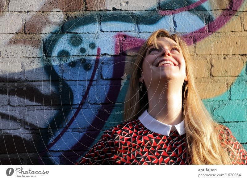 Human being Woman Beautiful Summer Face Adults Eyes Life Spring Graffiti Natural Feminine Healthy Happy Head Contentment