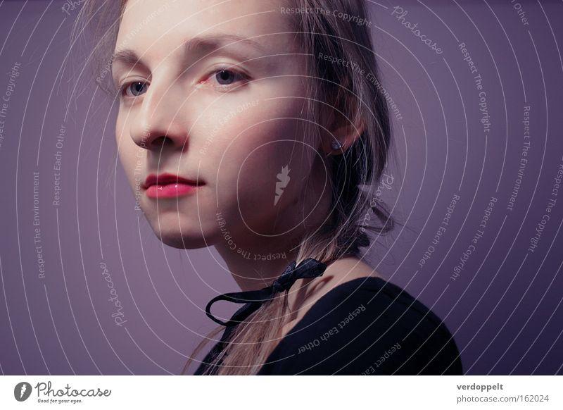 0_8 Portrait photograph Fashion Style Colour Purple Face Beauty Photography Woman Hair Beautiful tender