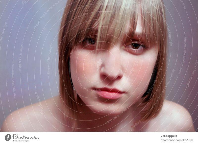 0_9 Woman Beautiful Face Colour Style Blonde Fresh Soft Lips Haircut Flash