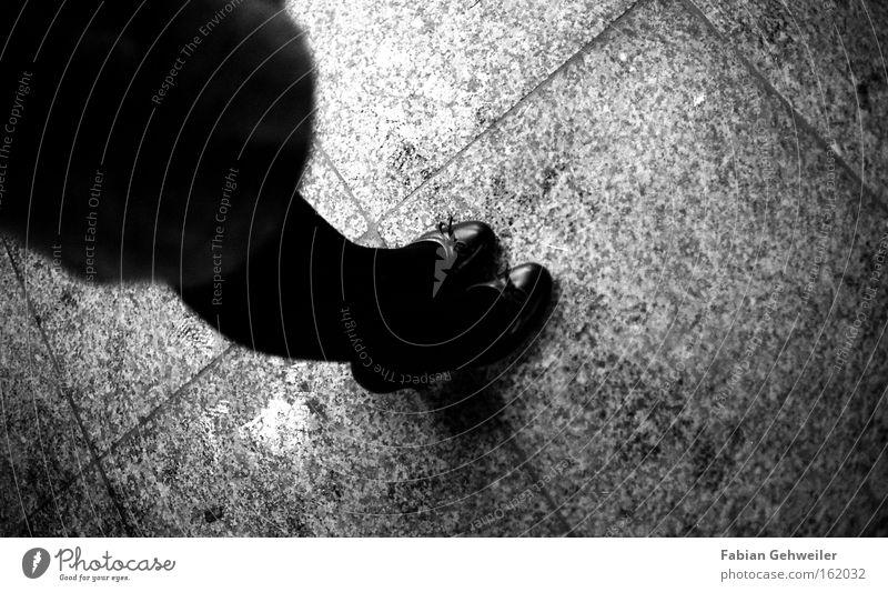 cinema day High heels Wait Footwear Black White Woman Feminine Legs