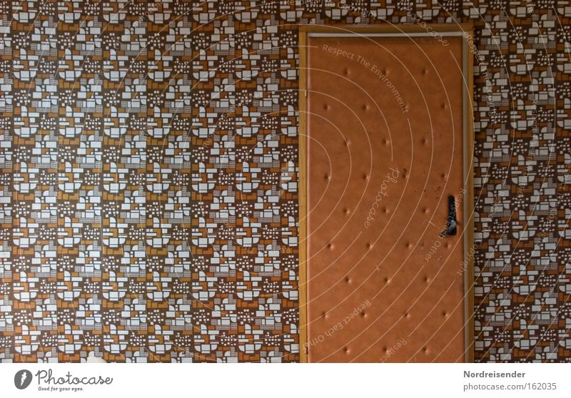 Old Loneliness Colour Dye Door Room Crazy Derelict Wallpaper GDR Nostalgia Leather