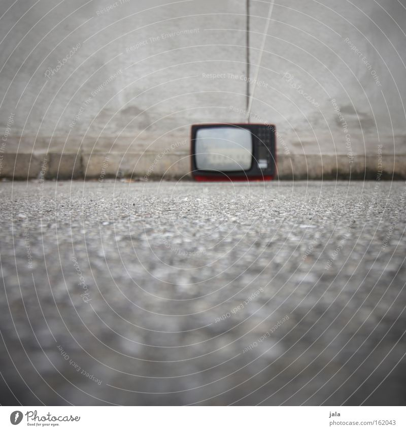 Old Media Perspective Retro TV set Television Traffic infrastructure Impaired consciousness 200