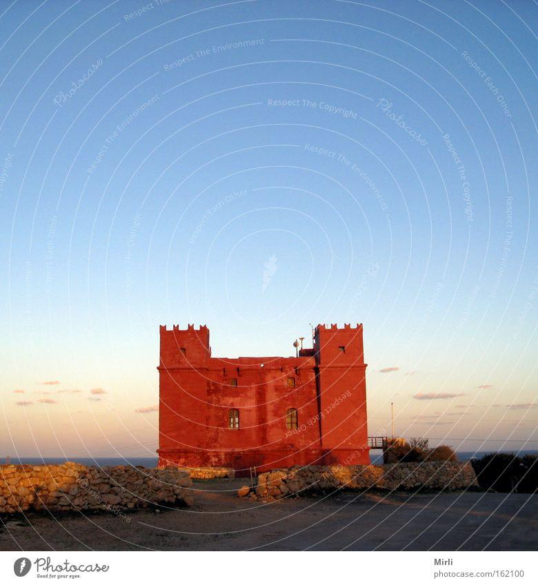 Red Tower, Malta Castle Historic Red tower Marfa Ridge St. Agatha Tower Wachturm Befestigungsanlage