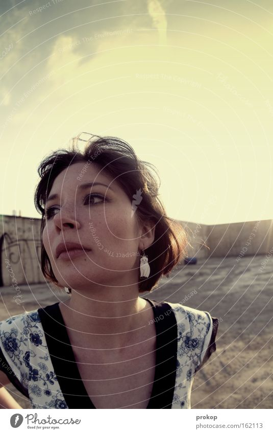 Woman Beautiful Sky Sun Joy Wind Stand Jewellery Attractive Self-confident