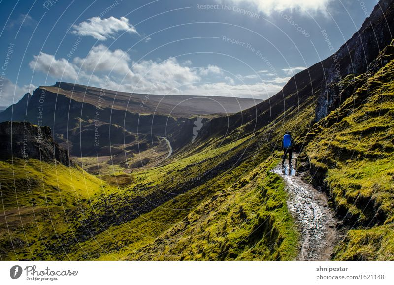 The Quiraing, Isle of Skye, Scotland Tourism Trip Adventure Expedition Island Mountain Hiking Fitness Sports Training Human being Man Adults 1 30 - 45 years