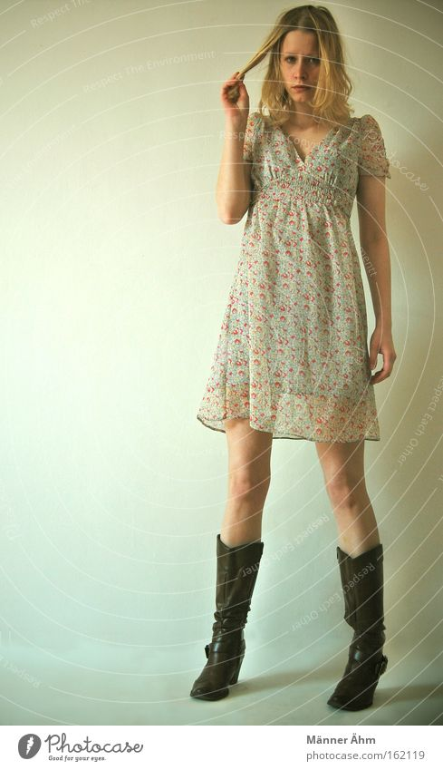 Extensions, please. Woman Dress Clothing Flower Spring Summer Boots Stand Beautiful Hair and hairstyles twirl Fashion