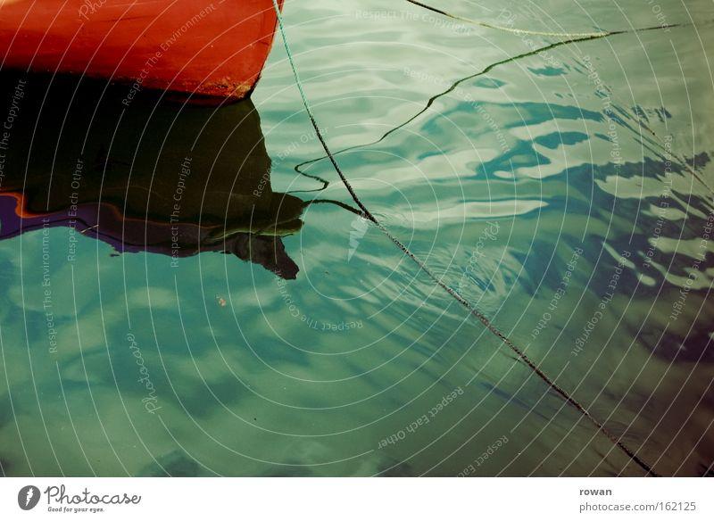 purple Watercraft Calm Rowboat Reflection Ocean Lake Blue Red